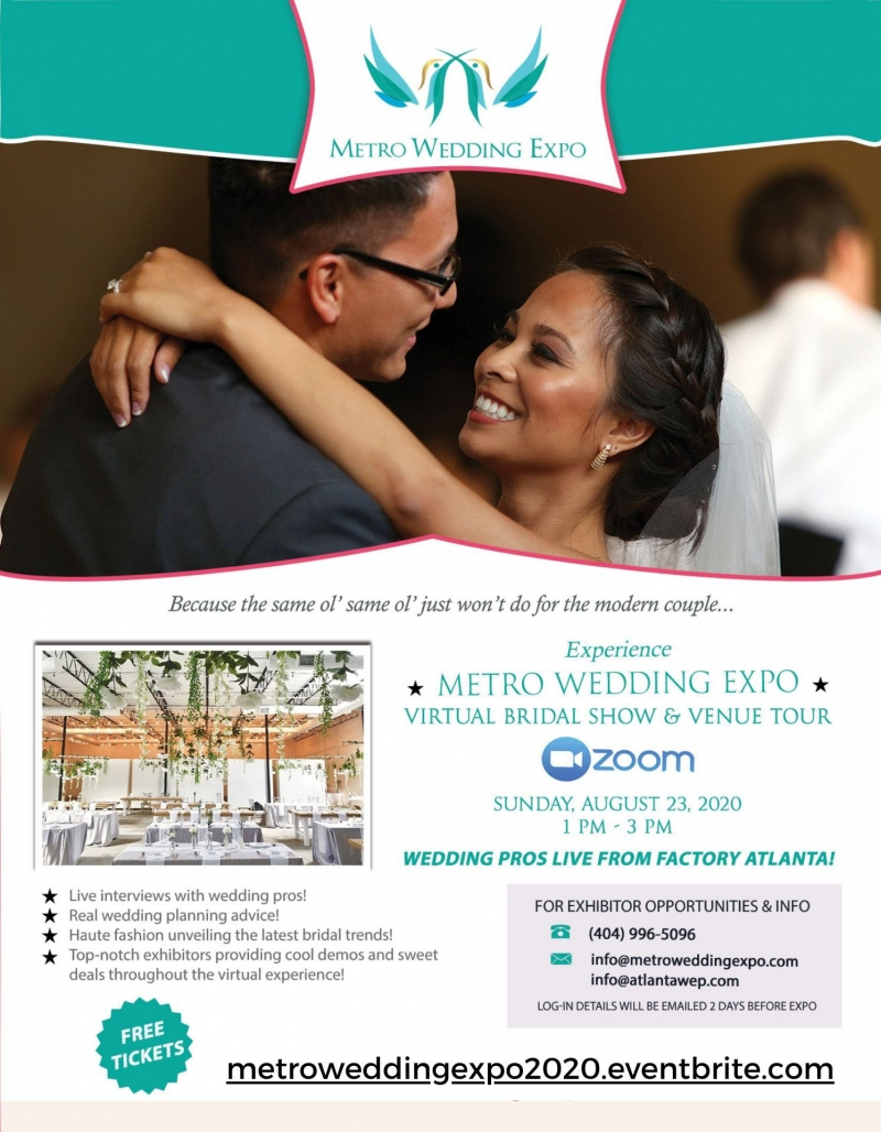 Metro Wedding Expo: Virtual Bridal Show and Venue Tour